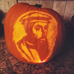 Jimmy's pumpkin carving this year: John Calvin. Happy Reformation Day!